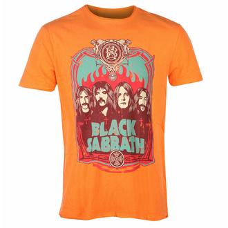 t-shirt pour homme BLACK SABBATH - FLAMES - ORANGE CRUSH - AMPLIFIED, AMPLIFIED, Black Sabbath