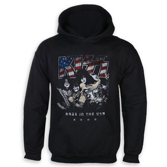 sweat-shirt avec capuche pour hommes Kiss - Made in the USA - ROCK OFF, ROCK OFF, Kiss