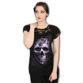 t-shirt pour femmes - LACE SKULL - SPIRAL, SPIRAL