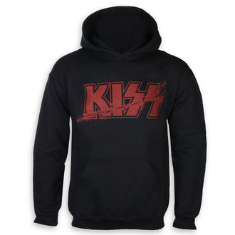 sweat-shirt avec capuche pour hommes Kiss - Slashed Logo - ROCK OFF, ROCK OFF, Kiss