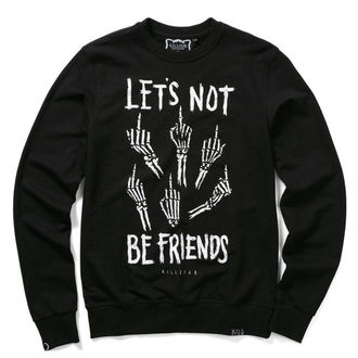 sweat-shirt (unisexe) KILLSTAR - Let's Not - Noir, KILLSTAR