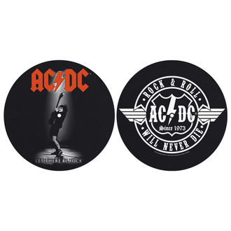 Tampon lecteur vinyles (ensemble de 2pcs) AC / DC - LET THERE BE ROCK! ROCK AND ROLL - RAZAMATAZ, RAZAMATAZ, AC-DC