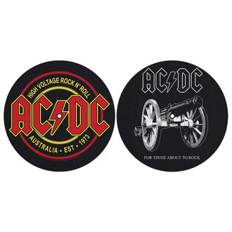 Tampon lecteur vinyles (ensemble de 2pcs) AC / DC - FOR THOSE MOUT TO ROCK - HAUTE TENSION - RAZAMATAZ, RAZAMATAZ, AC-DC