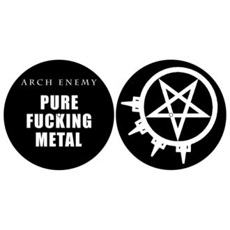 Tampon lecteur vinyles (ensemble de 2pcs) ARCH ENEMY - PURE FUCKING METAL - RAZAMATAZ, RAZAMATAZ, Arch Enemy