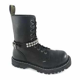 Harnais pour chaussures Cuir sangle avec rivets - bubble 2, Leather & Steel Fashion