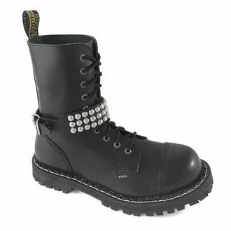 Harnais pour chaussures Cuir démarrer sangle avec rivets - bubble 3, Leather & Steel Fashion
