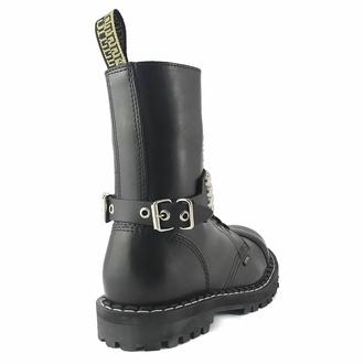 Harnais pour chaussures Cuir sangle avec rivets - bubble 4, Leather & Steel Fashion