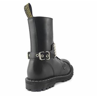 Harnais pour chaussures Cuir sangle avec rivets - bubble 5, Leather & Steel Fashion