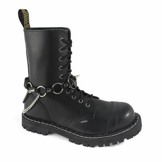 Harnais pour chaussures Anneaux Baphomet , Leather & Steel Fashion