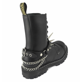Collier ou harnais pour chaussures Big Spike Boot Strap, Leather & Steel Fashion