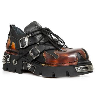 bottes en cuir pour hommes - ITALI NEGRO, PULIK FUEGO - NEW ROCK, NEW ROCK