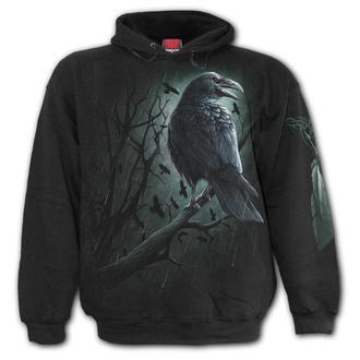 sweat-shirt avec capuche pour hommes - SHADOW RAVEN - SPIRAL, SPIRAL