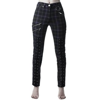 Pantalon KILLSTAR - Mazzy Lace-Up - TARTAN, KILLSTAR