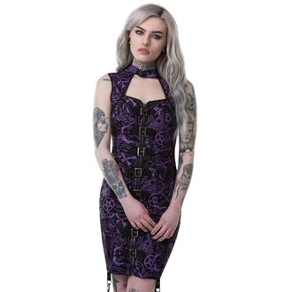 Robe  femmes KILLSTAR - MISS MORBID BUCKLE UP - NOIR, KILLSTAR