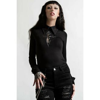 T-shirt à manches longues pour femmes KILLSTAR - Morissa - Noir, KILLSTAR