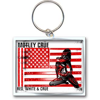 porte-clés - pendentif Mötley Crüe (Rouge, Blanc & Crue Logo) - ROCK OFF, ROCK OFF, Mötley Crüe