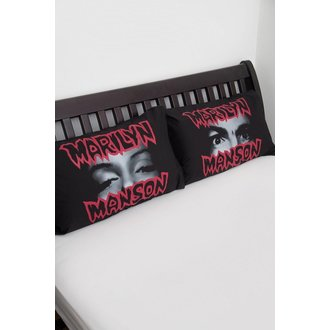 Ensemble de taies d'oreiller KILLSTAR - MARILYN MANSON - Obéit my Pillowcases - Noir, KILLSTAR, Marilyn Manson