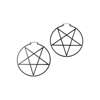 Boucle d'oreille KILLSTAR - Pentagram Hoop - Noir, KILLSTAR