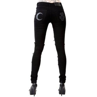 Pantalon femmes KILLSTAR - PHASED OUT JEANS - NOIR, KILLSTAR