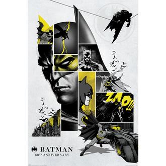 Affiche BATMAN - 80 ème ANNIVERSAIRE - DC COMICS - PYRAMID POSTERS, PYRAMID POSTERS, Batman