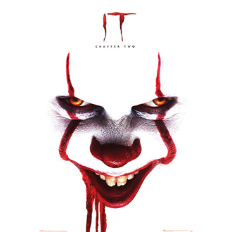 Affiche ça 2 - Pennywise face - PYRAMID POSTERS, PYRAMID POSTERS