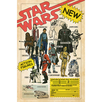 Affiche STAR WARS - ACTION FIGURES - PYRAMID POSTERS, PYRAMID POSTERS, Star Wars