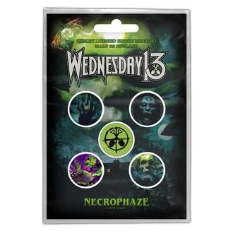 Badges WEDNESDAY 13 - NECROPHAZE - RAZAMATAZ, RAZAMATAZ, Wednesday 13