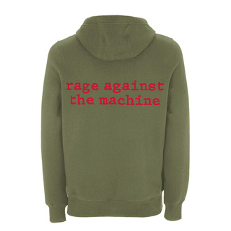 sweat-shirt avec capuche pour hommes Rage against the machine - Red Star Olive - NNM, NNM, Rage against the machine