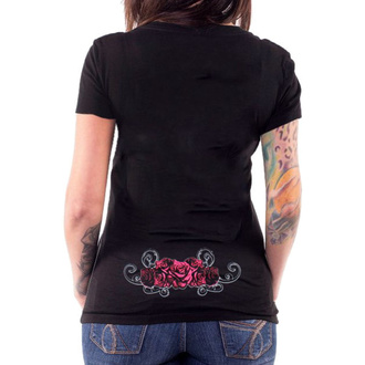 t-shirt hardcore pour femmes - ANGEL RED CATRINA BLACK - LETHAL THREAT, LETHAL THREAT