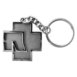 Porte-clés RAMMSTEIN - Logo Schlüsselanhänger - gris, RAMMSTEIN, Rammstein