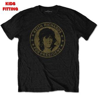 tee-shirt métal enfants Rolling Stones - Keith For President - ROCK OFF, ROCK OFF, Rolling Stones