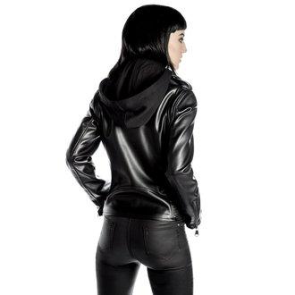 veste en cuir pour femmes - Ruth Less Veganomicon Biker - KILLSTAR, KILLSTAR