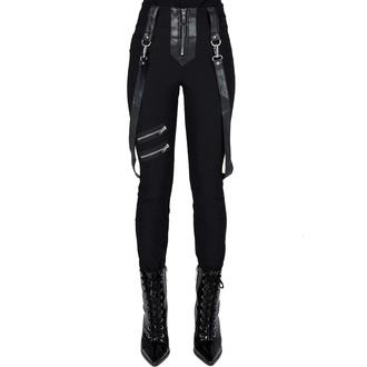pantalon pour femmes KILLSTAR - Shadow Stripes - Noir, KILLSTAR