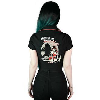 chemise pour femmes KILLSTAR - She Devil - Crop Bowling - Noir, KILLSTAR