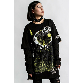 T-shirt unisexe manches longues KILLSTAR - Shine Bright 2-Layer - Noir, KILLSTAR