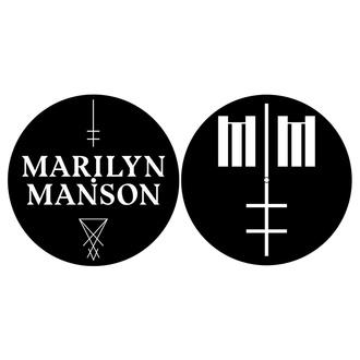 Tapis gramophone (ensemble de 2 pcs) Marilyn Manson - Logo / Traverser - RAZAMATAZ, RAZAMATAZ, Marilyn Manson
