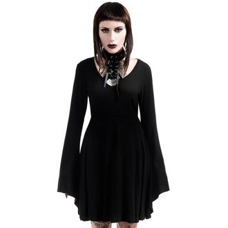 Robe femmes KILLSTAR - Spyda Lace-Me-Up - Noir, KILLSTAR