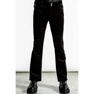 Unisexe des pantalons KILLSTAR - Strike A Cord - Noir Velours côtelé, KILLSTAR