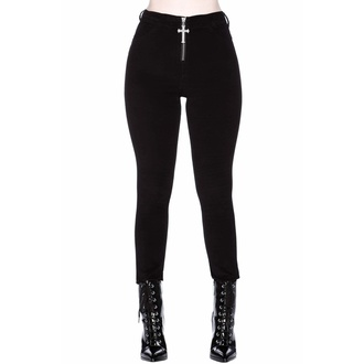 Pantalons femme KILLSTAR - Stroke Of Midnight Velvet - NOIR, KILLSTAR