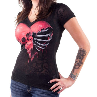 t-shirt hardcore pour femmes - ANGEL RIBCAGE HEART - LETHAL THREAT, LETHAL THREAT