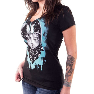 t-shirt hardcore pour femmes - ANGEL BIKER CAT - LETHAL THREAT, LETHAL THREAT