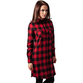 Robe pour femmes URBAN CLASSICS - checked Flanell, URBAN CLASSICS
