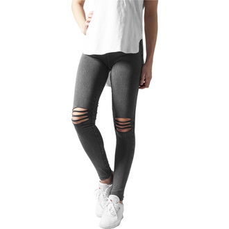 Pantalon (leggings) pour femmes URBAN CLASSICS - Cutted Knee Leggings - acide noir, URBAN CLASSICS