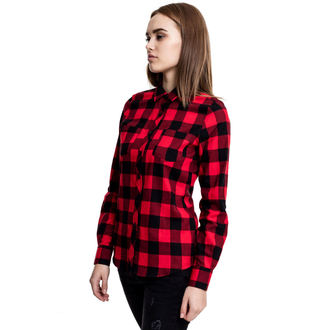 Chemise pour femmes URBAN CLASSICS - Turnup Checked Flannel, URBAN CLASSICS