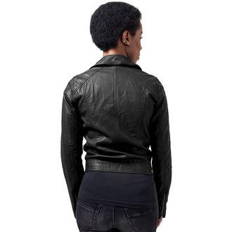veste printemps / automne pour femmes - Leather Imitation Biker - URBAN CLASSICS - TB1353-black