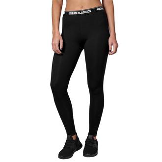 Pantalon leggings pour femmes URBAN CLASSICS - Logo - noir, URBAN CLASSICS