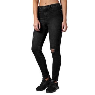 Pantalon pour femmes URBAN CLASSICS - Taille Haute - noir délavé, URBAN CLASSICS