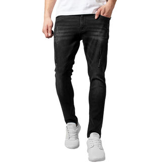 Pantalon pour homme URBAN CLASSICS - Skinny Ripped Stretch Denim, URBAN CLASSICS