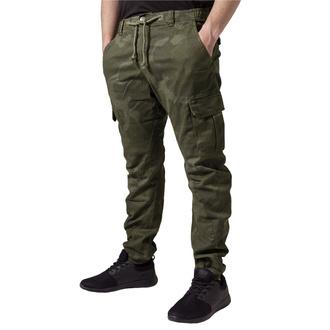 Pantalon URBAN CLASSICS - Camo Cargo Jogging - olive camo, URBAN CLASSICS