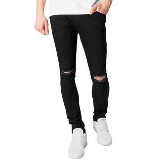 Pantalon pour homme URBAN CLASSICS - Slim Fit Coupé aux genoux Denim, URBAN CLASSICS